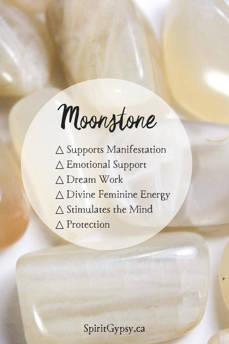 SpiritGypsy.ca | Moonstone | Healing Crystals #crystalhealing