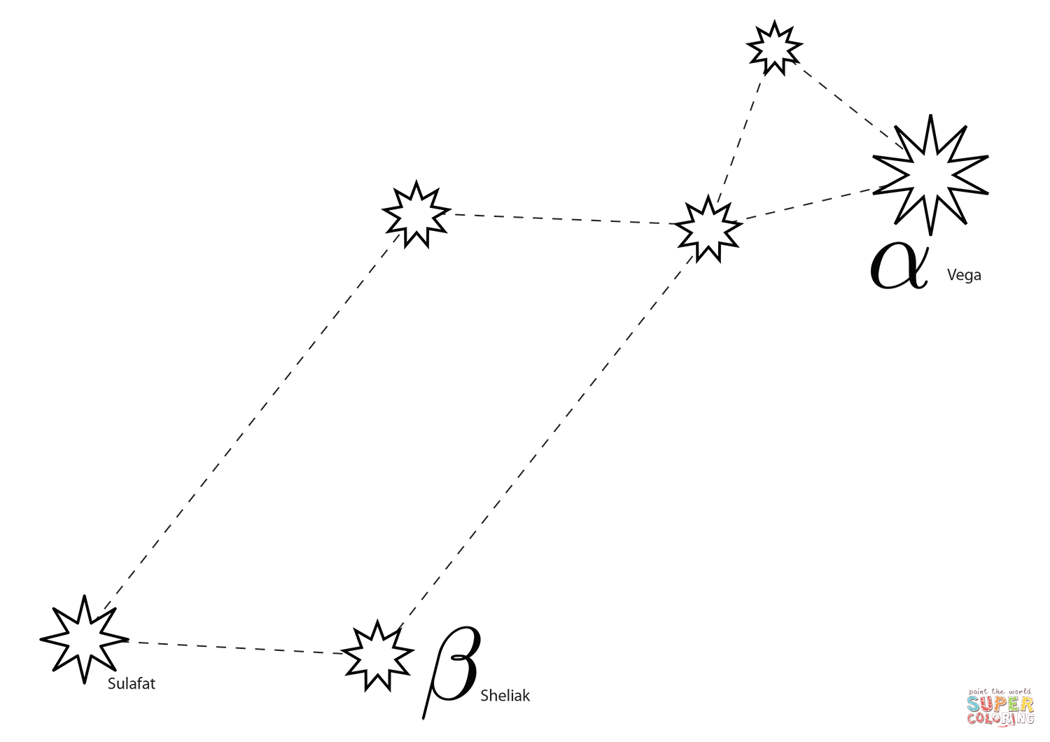 Lyra Constellation Coloring Page From 88 Constellations
