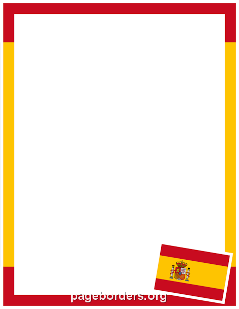 Printable spanish flag border use the border in microsoft word or other programs for creating flyers invitations and other printables