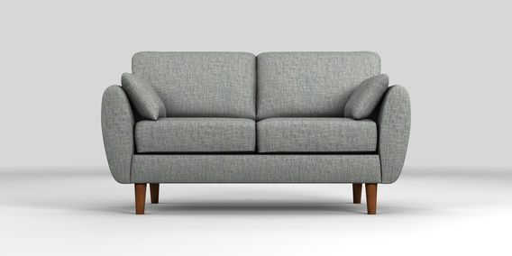 Admirable Buy Wilson Small Sofa 2 Seats Boucle Weave Dark Grey Low Squirreltailoven Fun Painted Chair Ideas Images Squirreltailovenorg