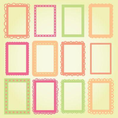 Colección de fotos Marcos de 4x6 SVG | diseños svgcuts | Pinterest ...