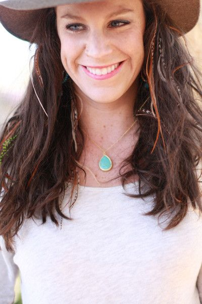 Large Stone Drop Necklace | Stitch and Stone