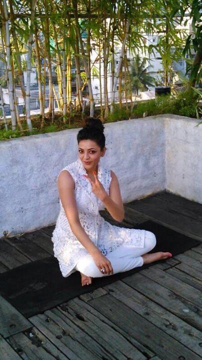 Image result for kajal agarwal yoga
