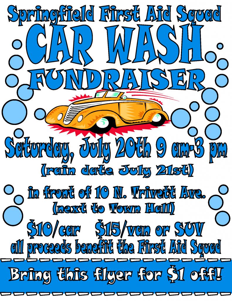 Springfield First Aid Squad Hosts Car Wash Fundraiser