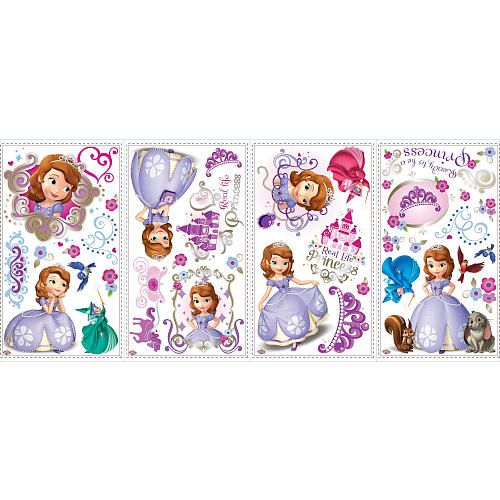 """Disney Sofia the First Peel & Stick Wall Decals - York Wall Coverings - Toys """"R"""" Us"""