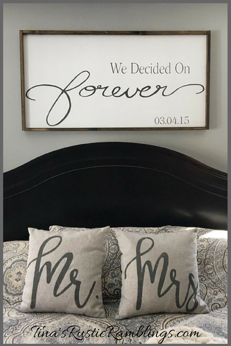 farmhouse master bedroom signs on large wooden sign we decided on forever master bedroom sign over the bed signs personalized sign wedding gift bedroom signs rustic house home bedroom pinterest