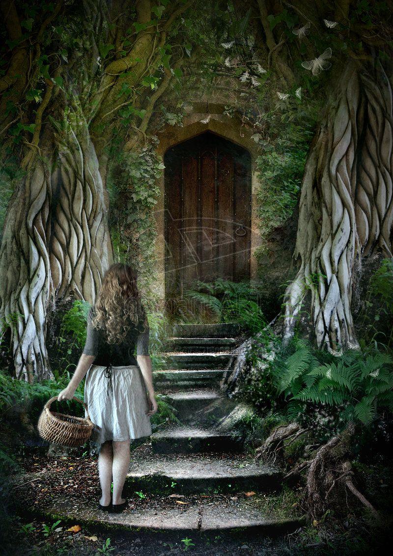 The secret door by arwensgrace ファンタジーアート pinterest