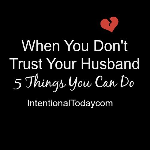 how to trust your husband