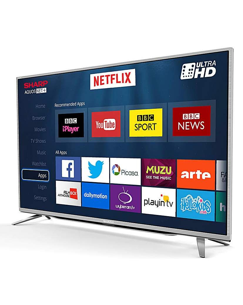 SHARP 55 Inch 4K UHD TV and INSTALL | Products | Smart tv, Tvs, Tv