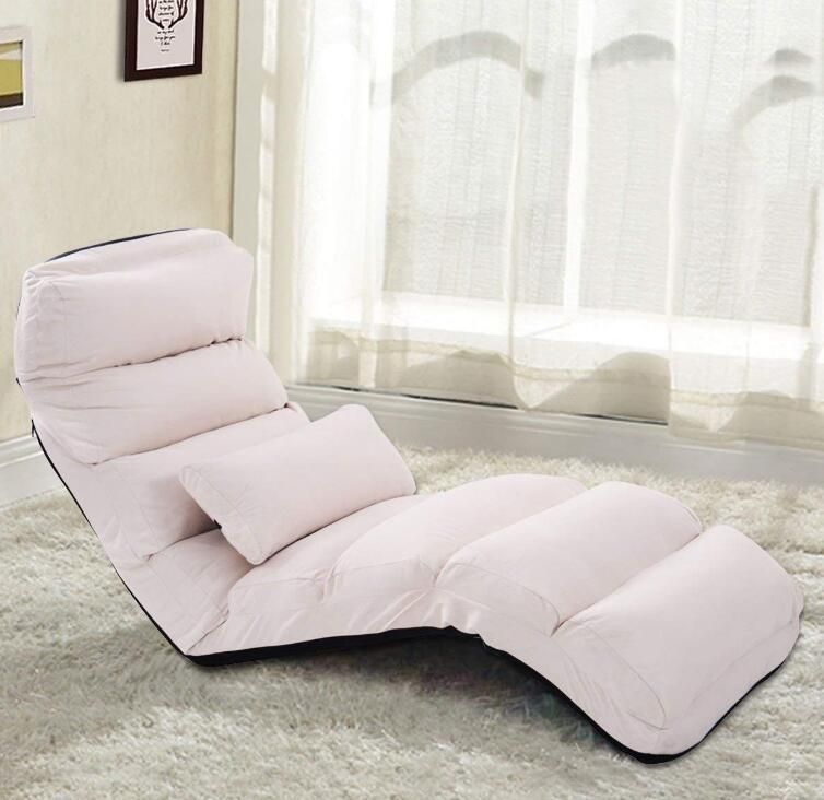 Folding Lazy Chaise Lounge Recliner Relax Chair Stylish Lazy Sofa Couch Beds Sleeper Lounge Chair Modern Japanese Home Sofa Couch Bed Lazy Sofa Stylish Chairs