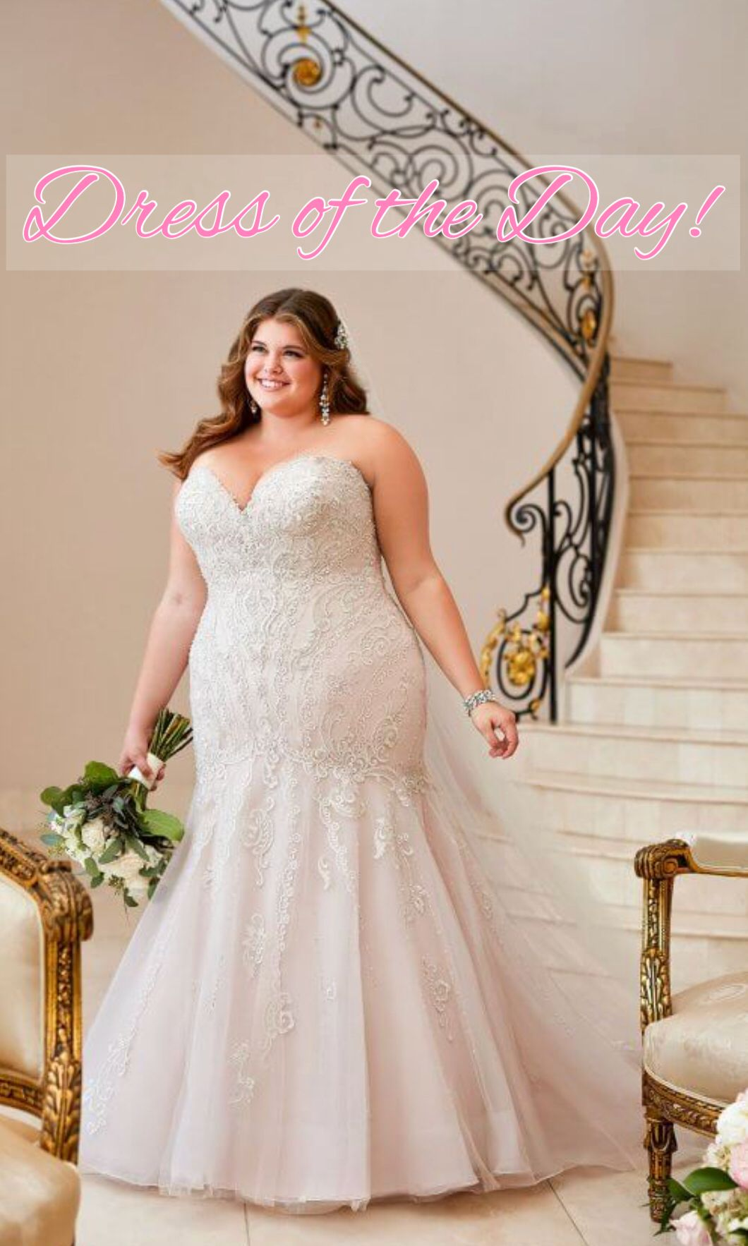 Dress of the day exclusively at molle bridals in a stunning