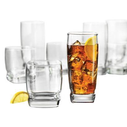 libbey glass 12pk carrington set 6 tall tumblers u0026 6 short tumblers - Libbey Glassware