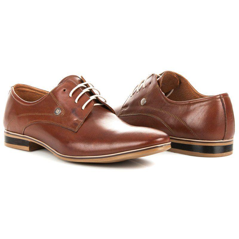 Mario Boschetti Eleganckie Buty Na Wiazanie Brazowe Dress Shoes Men Oxford Shoes Dress Shoes
