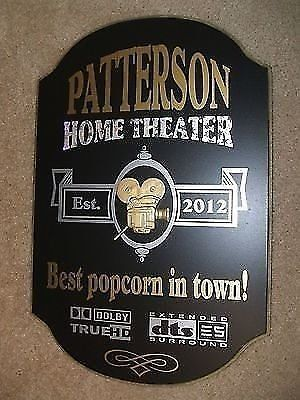 personalized custom us made 3d wood signs home theater decor movie