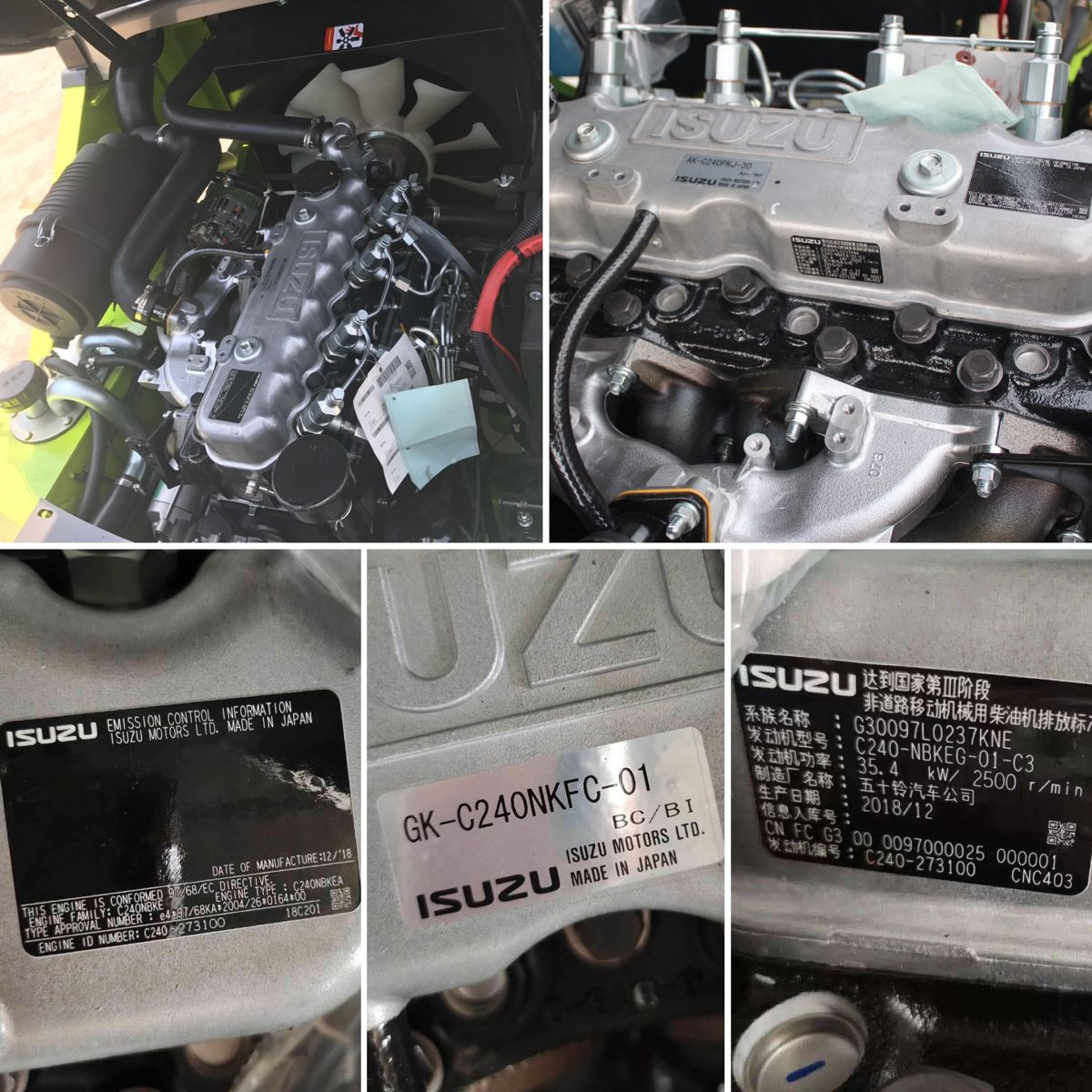 Original Isuzu Engine Made In Japan Japanese Engines Forklift Japan