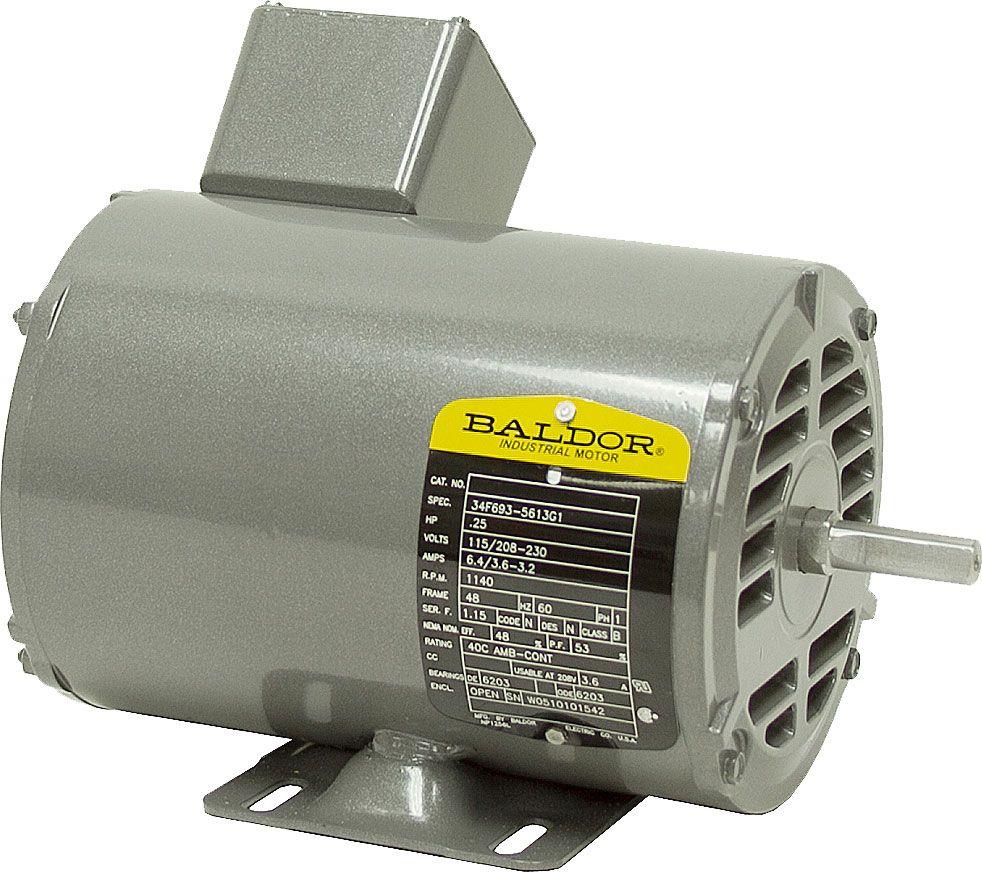 Baldor Single Phase AC Motors   Baldor Industrial AC Motors ... on
