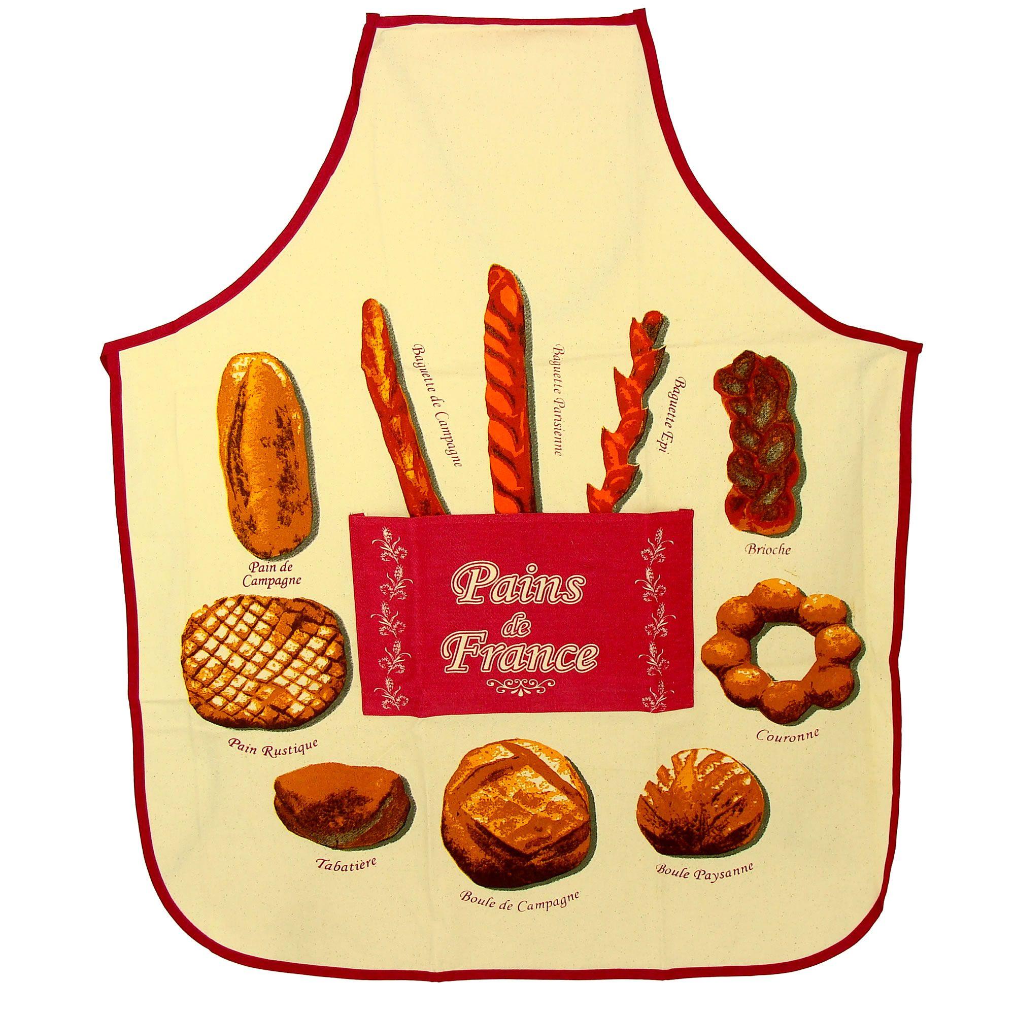 """Poster Métal souvenir France """"carte la france des pains"""""""