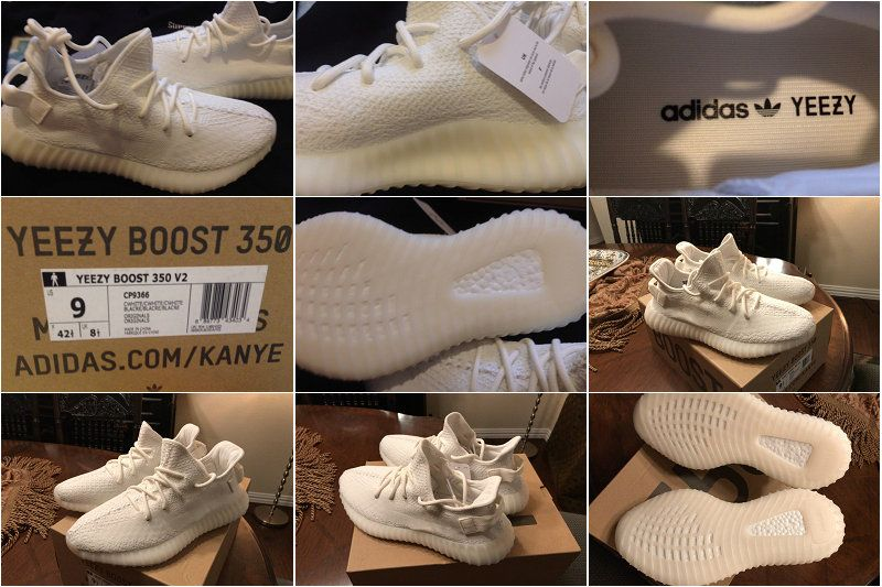 6ba1e6cd807 Genuine Authentic Adidas Yeezy Boost 350 V2 Cream White 2018 Online ...