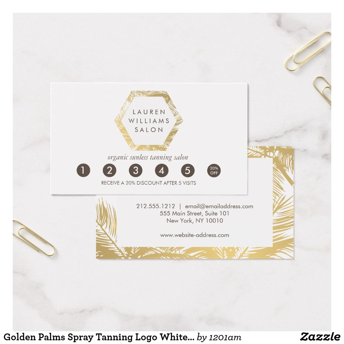 Golden Bronze Confetti Dots Salon Punch Card Zazzle Com Spray Tan Salons Salon Business Cards Punch Cards