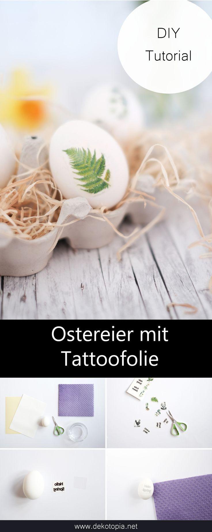 Ostereier mit Tattoofolie verschönern | dekotopia