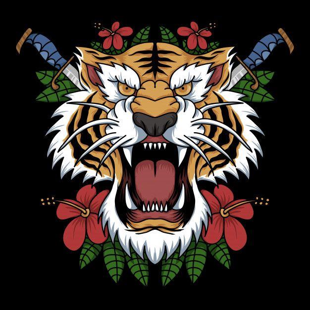 Head Tiger Decoration