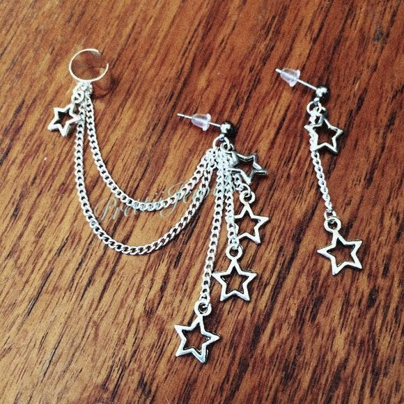 Star dangle ear cuff earring Brand new ⭐️ FIRM PRICE ❌ Feathers are 1