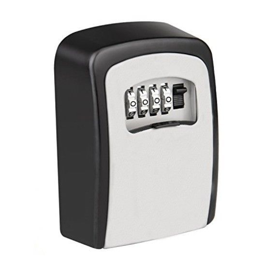 Key Storage Lock Box, 4-Digit Combination Lock Box, Wall