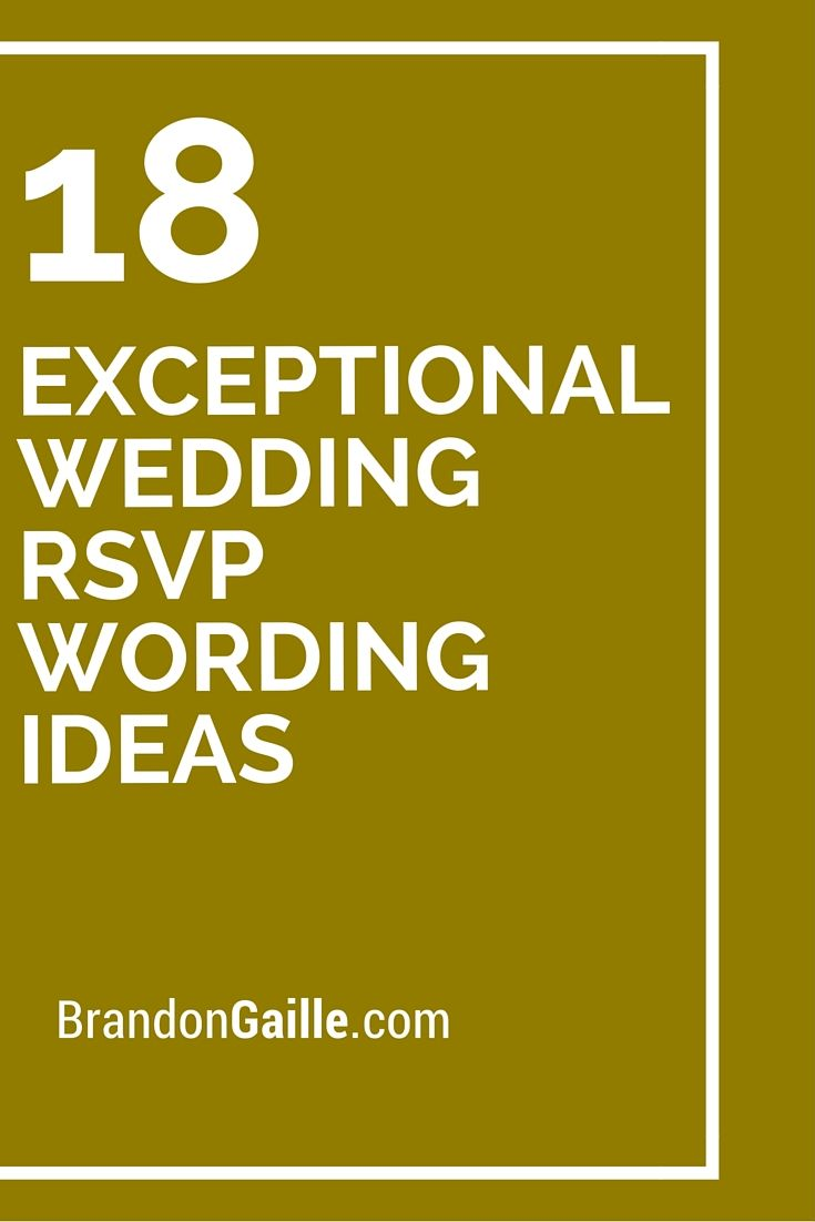 18 exceptional wedding rsvp wording ideas rsvp wedding and