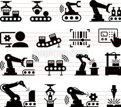 Factory Automation Icons Factory Icon Icon Automation