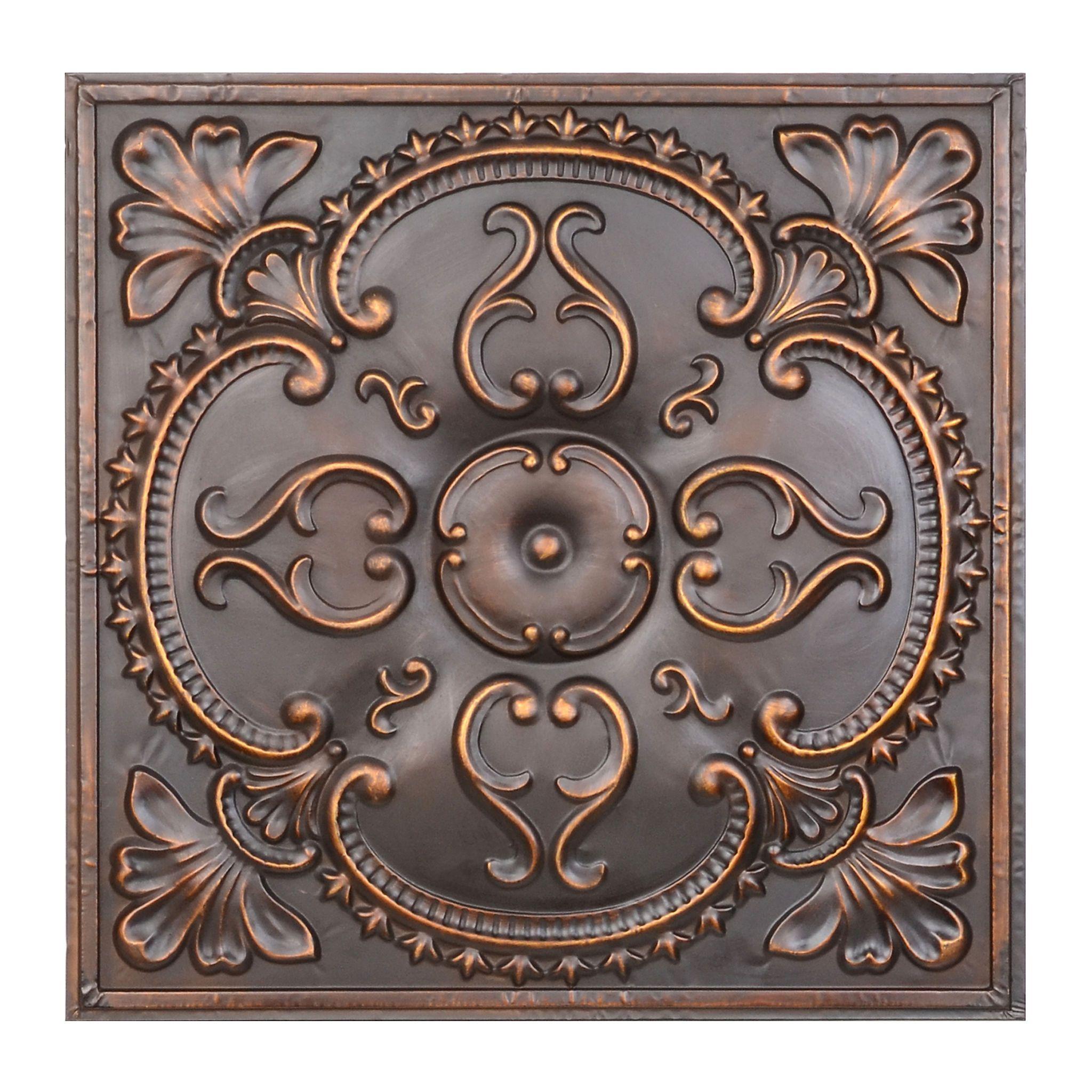 Bronze Medallion Tile Wall Plaque Kirklands