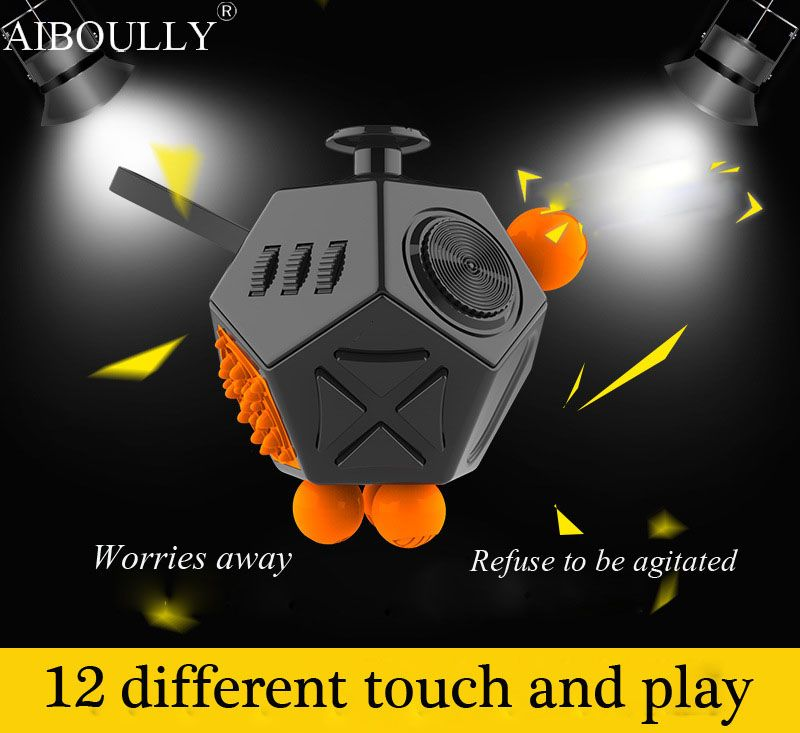 Latest Version Fidget Cube Interesting High Quality 12 Sided Fidget Spinner Anti Irritability Toy Magic Cobe In Stress Stock Fidget Cube Stress Toys Cube