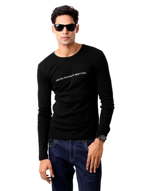 Design your t shirt myntra - United Colors Of Benetton Men Black T Shirt Myntra