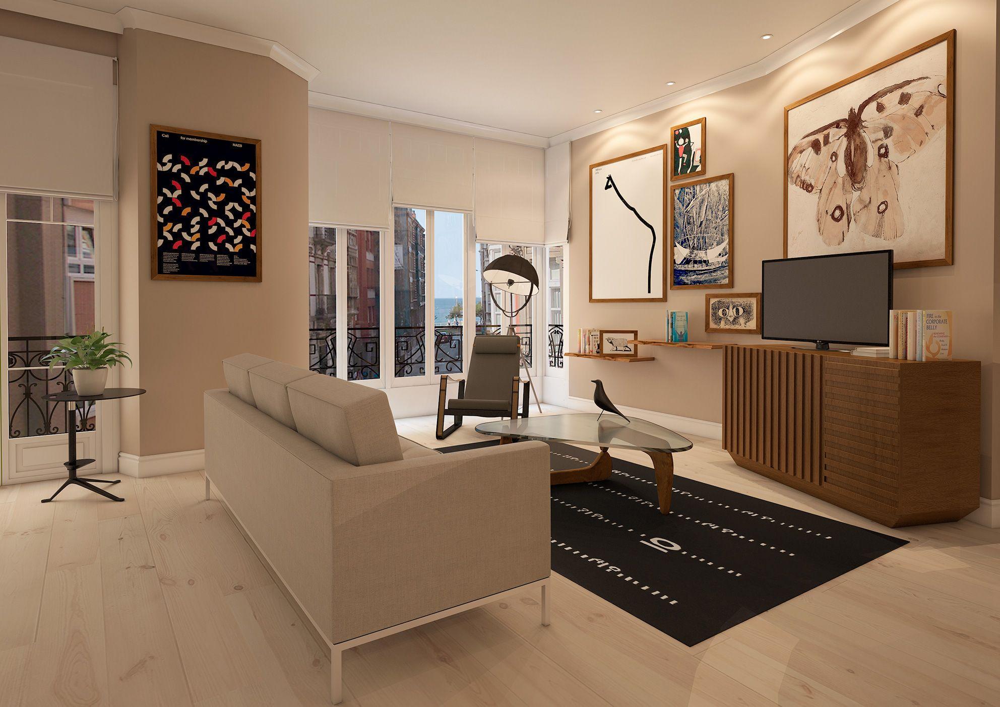 Interior Design Project For Goya Intercontinental Modern Living  # Meuble Tv Goya