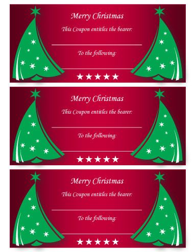 Red And Green Merry Christmas Coupon Free Ticket Template By Hloom