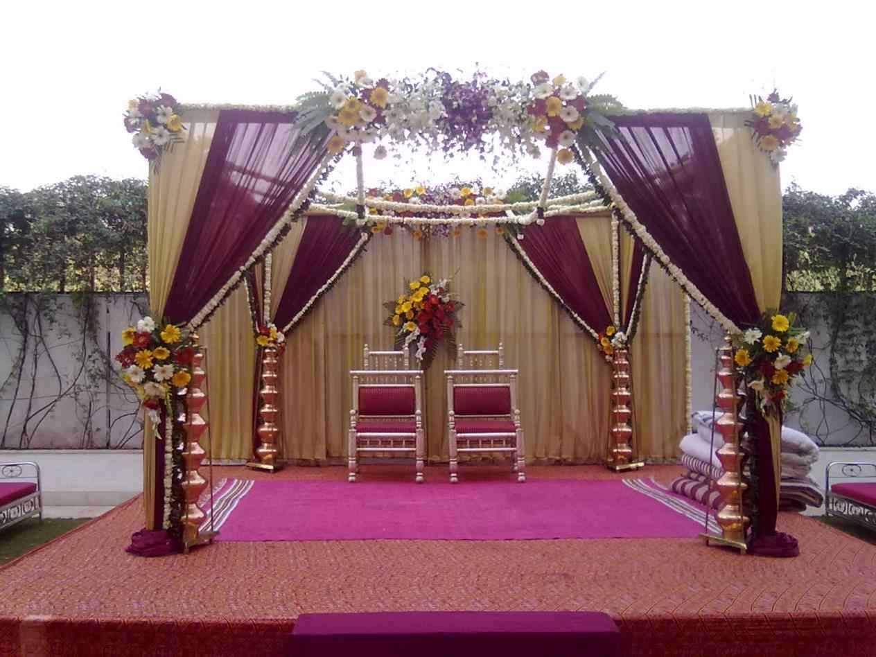 Simple Indian Wedding Reception Decorations Outdoor Wedding