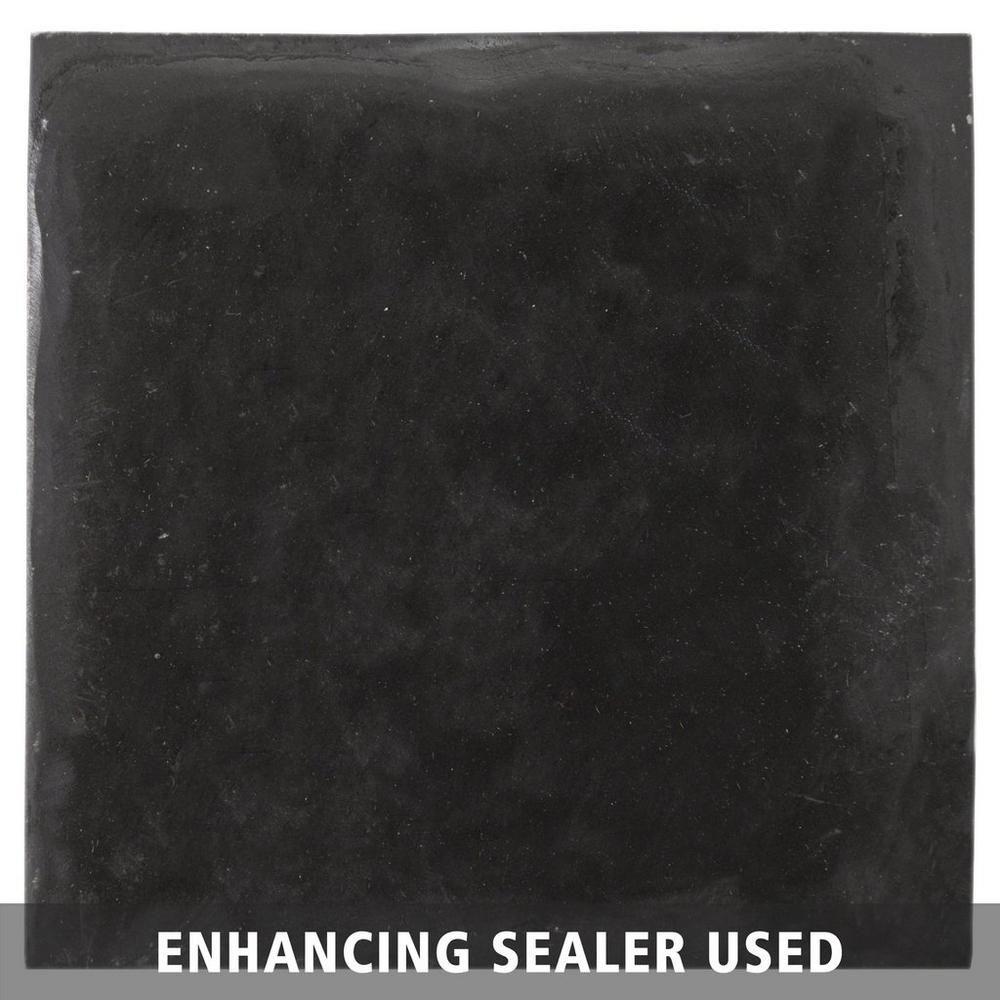 Decorative Slate Tiles Black Decorative Slate Tile  4Inx 4In 100047463  Floor And