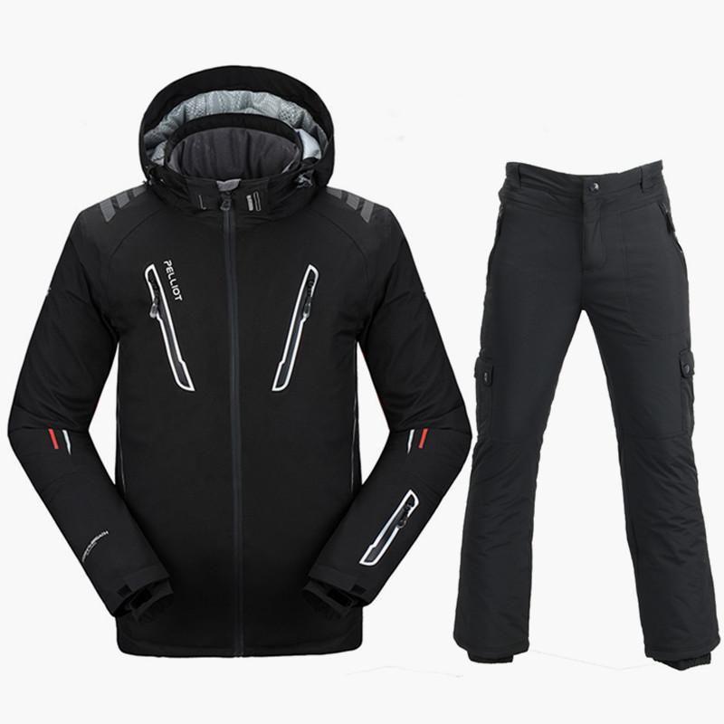 Pelliot Ski Suit Men Waterproof 10K Ski Jacket Snowboard Pants Super Warm  Breathable Snowboarding Suits Outdoor 30a040bf3