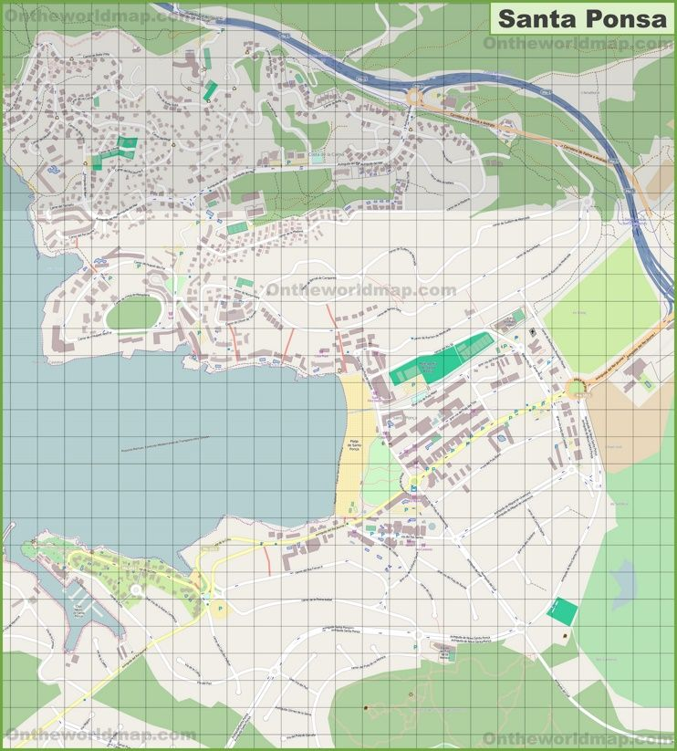 Large detailed map of Santa Ponsa Maps Pinterest Santa
