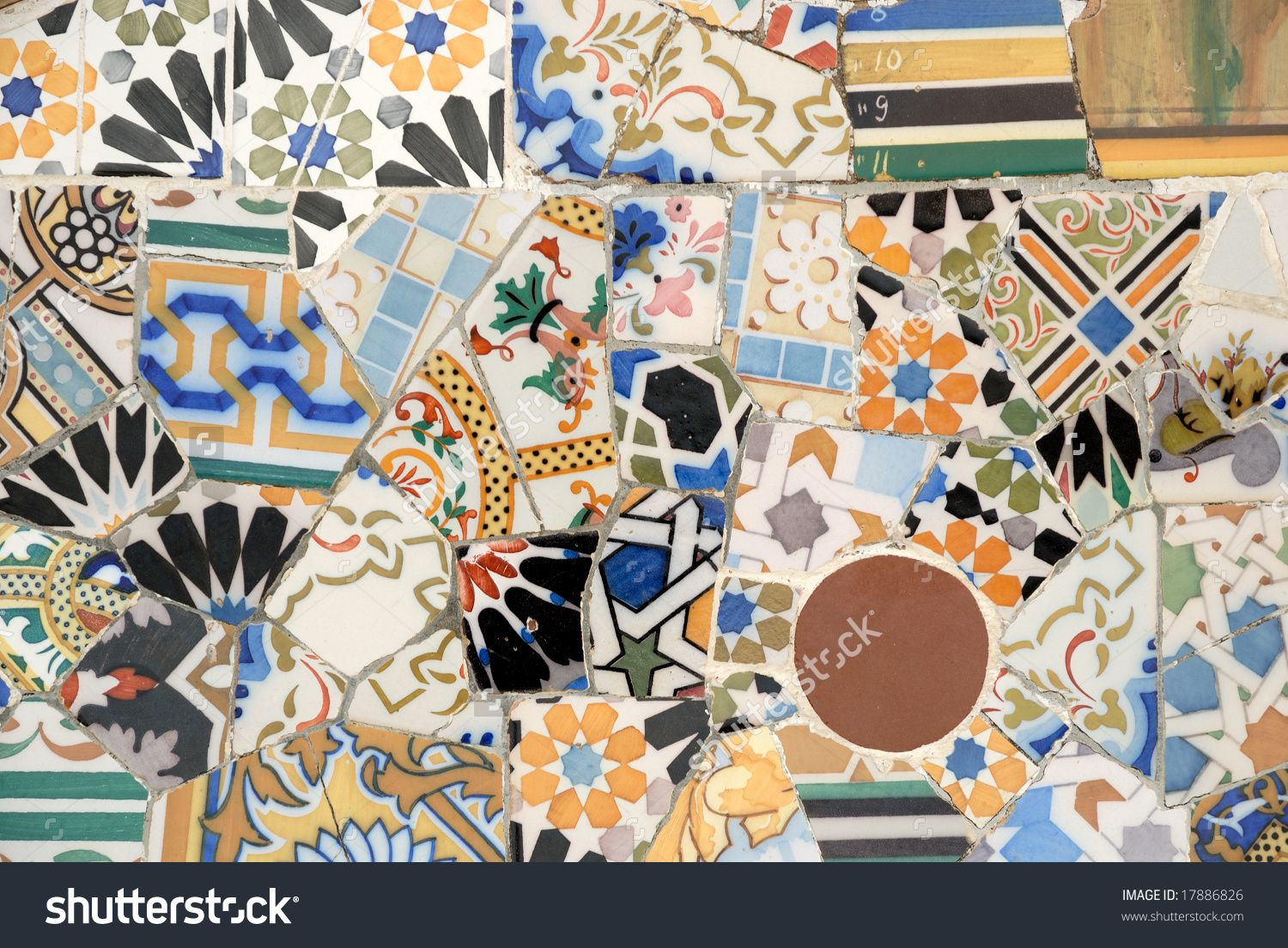 stock-photo-mosaic-art-by-antoni-gaudi-barcelona-spain-17886826.jpg (1500×1104)