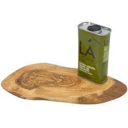 Cadeauset tapasplank en la organic olijfolie.