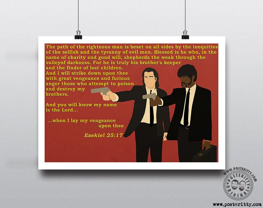 Minimalist Tarantino Movie Poster PULP FICTION Minimal Film Posteritty design
