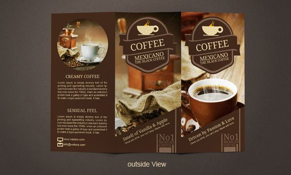 Coffee Poster, Leaflets, Flyers, Brochures, Ruffles