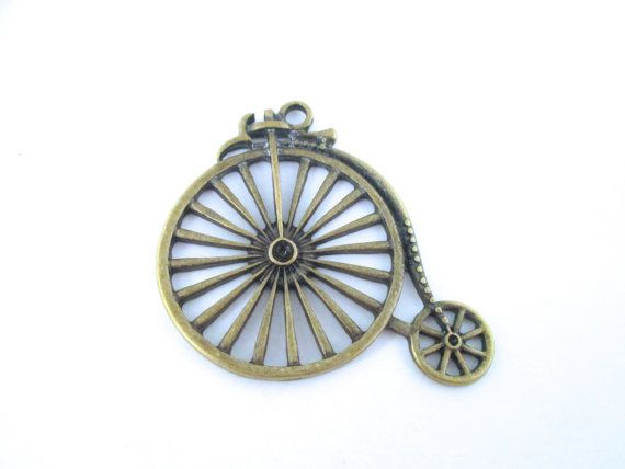 6 brass plated bicycle pendants penny farthing by bunnysundries 6 brass plated bicycle pendants penny farthing by bunnysundries craft supplies tools jewelry aloadofball Gallery