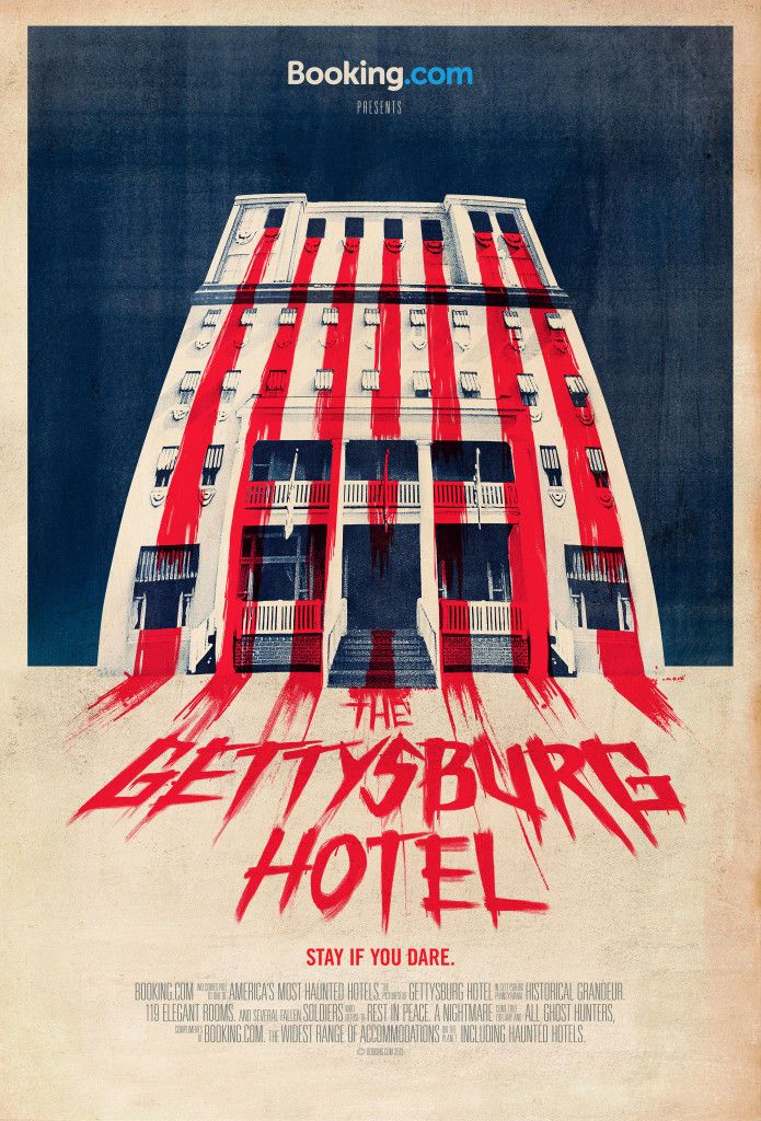the gettysburg hotel in gettysburg pennsylvania fake ad for bookingcom halloween haunted hotel campaign