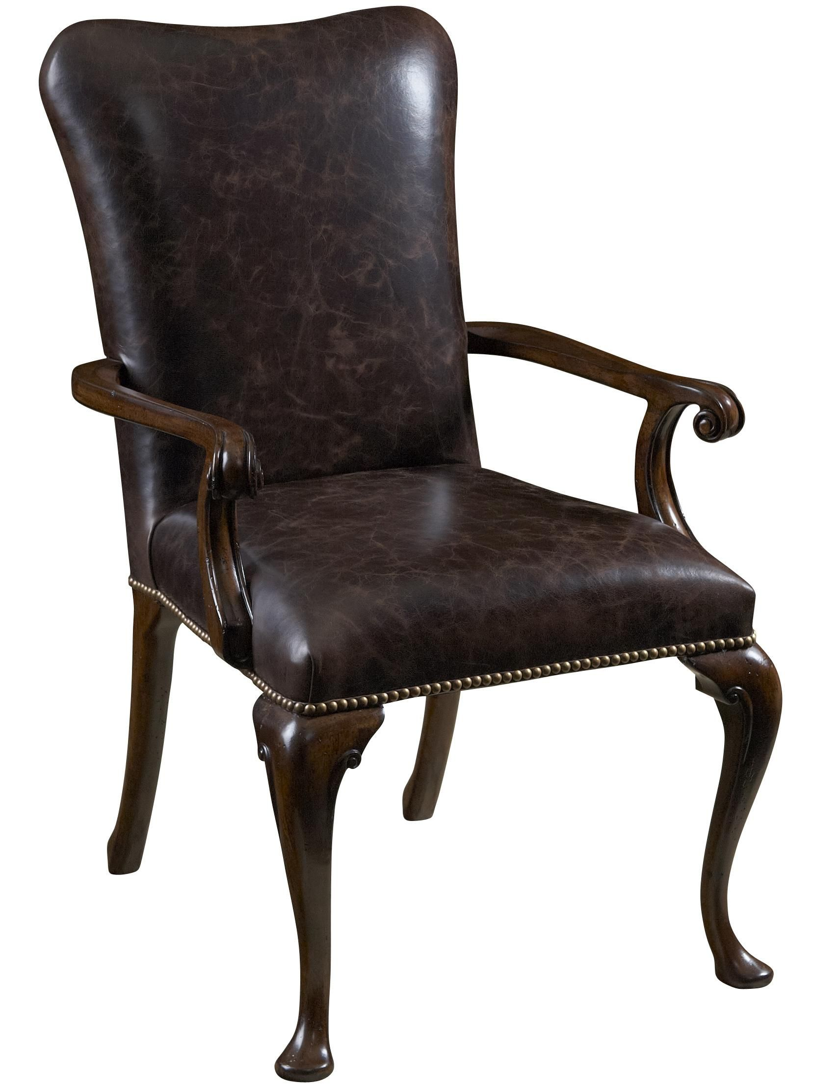 Perfect Leather Upholstered Dining Arm Chair