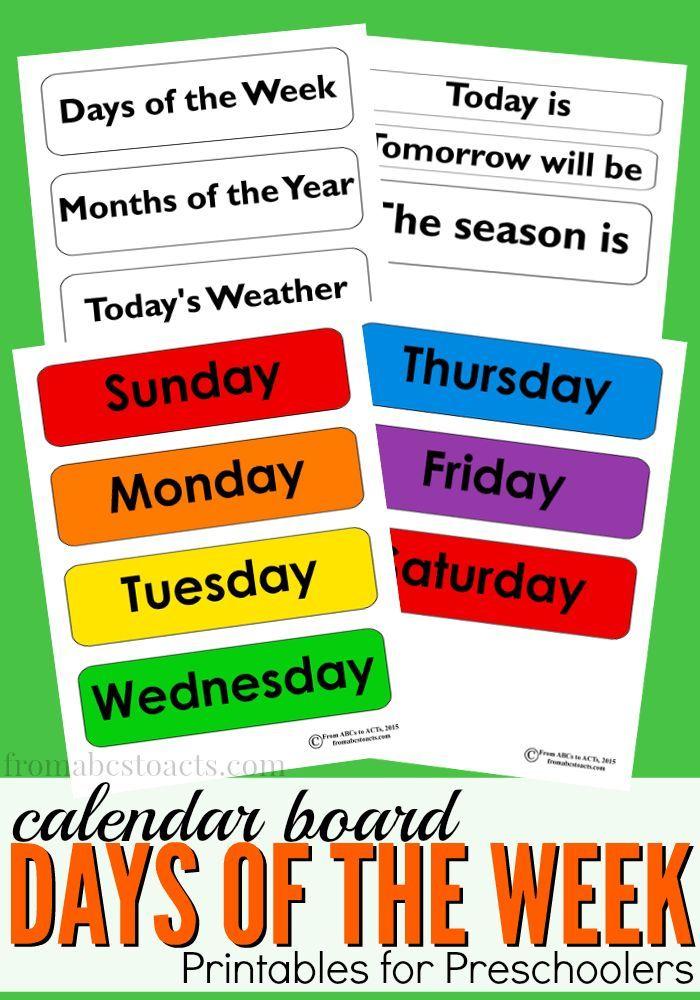 Seasons Activities Months of the Year Kids Printable Visual Weekly Schedule Kids Printable Calendar Weather