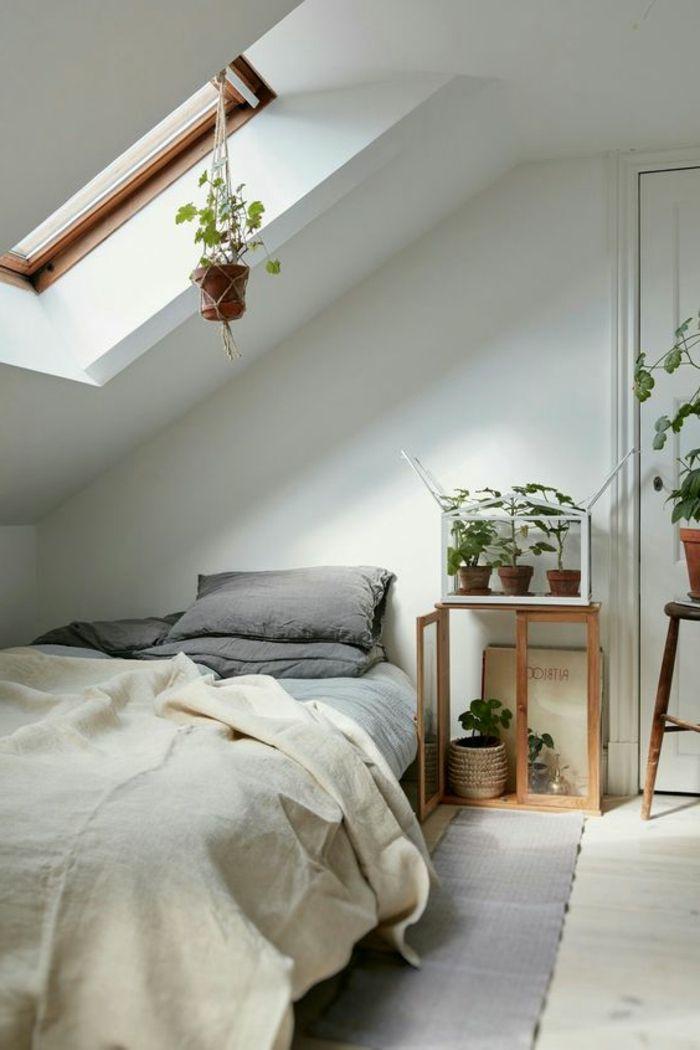 ▷1001+ idées déco de chambre sous pente cocoon | Oreillers gris ...