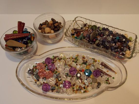 Misc Beads Jewelry Making Supplies Pretty by sistersfuntreasures, $39.99