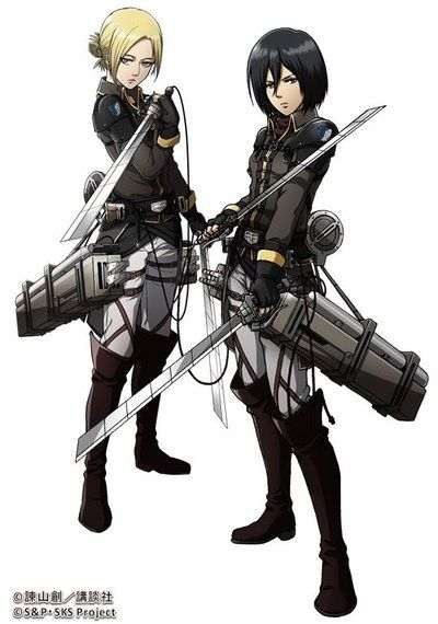 New Annie and Mikasa by luffysan9 on DeviantArt