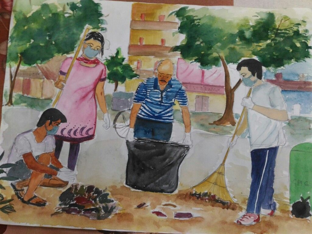 Swatch Bharat By Aditi Bhowal Indian Art Paintings Design
